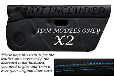 BLUE STITCHING JDM FITS MAZDA MX5 MK1 MIATA 89-97 2X DOOR CARD COVERS ONLY