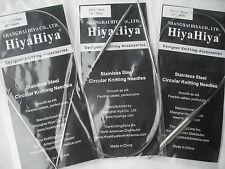 "HiyaHiya 8.0mm x 40cm (16"") Stainless Steel Circular Knitting Needles"