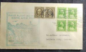 1932 FFC - First Flight Air Mail Route AM 18 POD Sioux Falls South Dakota