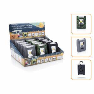 12 x LED Taschenlampe Arbeitslicht Campinglicht 3x AAA Batterie Magnet - UVP 32€
