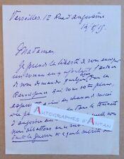 L.A.S 1915 François DE NION (Doré) Romancier Versailles Pierrefonds - Lettre ww1