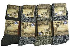 12 Pairs New Men's Wool Blend Socks Outdoor Walking Work Thermal Socks Size 6-11