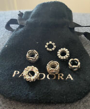 Authentic Pandora Spacer Charms X 6
