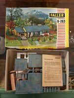 Vintage Rare 1960s Faller HO B-263 Ranch Style House w/Att Garage Kit  W Germany