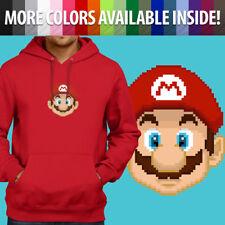 Super Mario Bros Pixel Nintendo Video Game Pullover Sweatshirt Hoodie Sweater