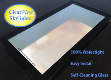 Glass Flat Rooflight, Roof Lantern, Skylight +Kerb - Triple Glazed - All Sizes
