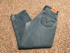 MEN'S 550 Red Tab Levi's  5 PKT RELAXED FIT DENIM SIZE 3430 MEDIUM WASH 29'' IN