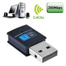 Mini WLAN Stick 300 Mbit WIFI Stick 300Mbit Wireless USB 2.0 Adapter WPS schwarz