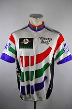 Léchappee Belle Vintage Tour Cycling Jersey maglia rueda camiseta talla xxl 60cm s1