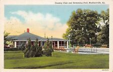 Madisonville Kentucky~Country Club Swimming Pool~Rocking Chair~1932 Postcard