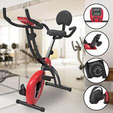 Vélo d´appartement Fitness Cardio Entraînement 8 Niveaux Réglable avec Dossier