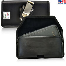 Turtleback Samsung Galaxy S6 Leather Pouch Holster Metal Belt Clip Fit Lifeproof