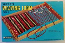 Spear's Weaving Loom Size 1 Games Yarn Children's Toy 1978 Complete With Box