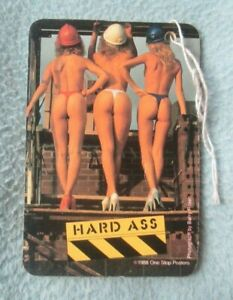 SEXY YOUNG WOMEN 1988 Hard Ass Vintage 1980's Car Air Freshener MX50