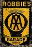 VINTAGE AA PERSONALISED LARGE METAL BAR SIGN FOR BAR - GARAGE - WORKSHOP - CAVE!