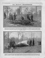 Poilus Soldats Charbonniers Bois de Villiers-Adam Val-d'Oise Charbon 1916 WWI