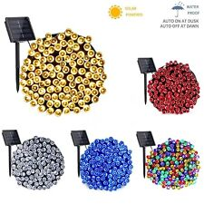 More details for 50/100/200/500 led solar power fairy garden lights string outdoor party wedding