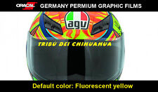 TRIBU DEI CHIHUAHUA HELMET valentino Rossi Motorcycle Vinyl Decal_Yellow Fluo