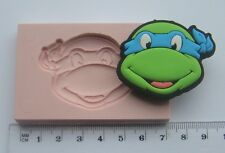 Silicona Molde Teenage Mutant Ninja Turtles Icing Pastel Tarjeta Topper Fimo