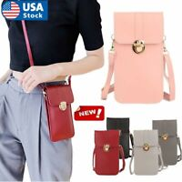 Women Girls Phone Purse Bag Shoulder Strap Touch Screen Cross-Body Pouch Wallet