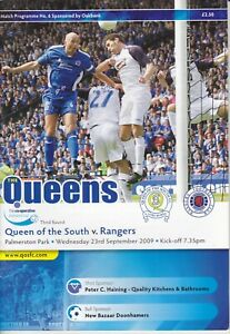 Queen of the South v Rangers 23 Sep 2009 League Cup