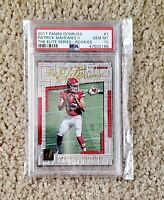 2017 Panini Donruss Patrick Mahomes The Elite Series RC Rookie PSA 10 GEM MINT
