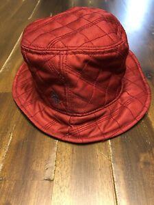New Penguin Dale Bucket Sun Beach Hat Rosewood Red 100% Poly/ Fleece Liner S/M