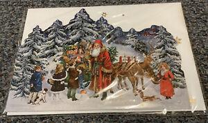 Nostalgic Multi Fold Advent Calendar Card Coppenrath German Traditional Style
