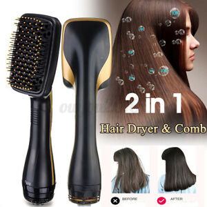Professional 2 in 1 One Step Hair Dryer Styler Comb Negative Ion Smooth Brush