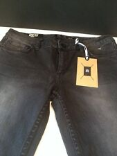 NWT DC Jeans Straight Distressed Black Low Rise Women's Jeans 26 x33 MSRP $64