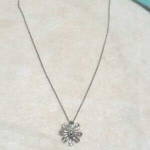 TIFFANY & CO. Daisy Flower Necklace Pendant Picasso Sterling Silver 925