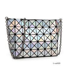 Fashion Hologram Holographic Women Shoulder Bag Satchel Tote Clutch Silver Color