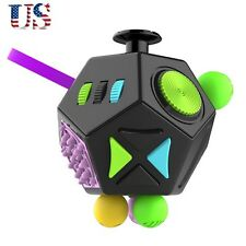 Durable 12 Side Fidget Cube Toys Puzzle Stress Reducer Relax Your Body And Brain