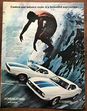 1972 Ford Mustang SportsRoof Sprint decor Vintage Magazine Ad - 10 by 14 inches