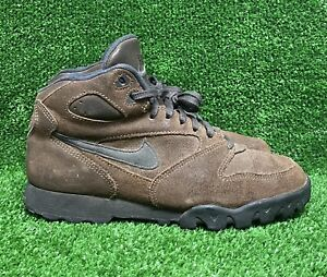Vintage 1994 Nike Air Caldera Trail Hiking Boots Sneakers ACG Brown Black 90s