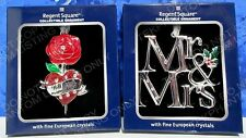Rose Heart Marry Me Mr. Mrs. Christmas Ornament Regent Square European Crystals
