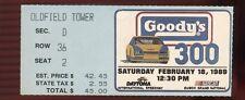 Ticket Nascar 1989 Daytona 2/18 Goody's 300