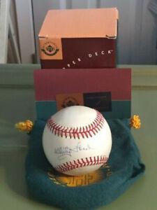 Whitey Ford Yankees Autographed Rawlings Official AL Baseball UDA Hologram COA