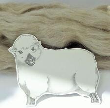NATURAL GREY SHETLAND wool tops / roving / needle felting wool / fibre 50g