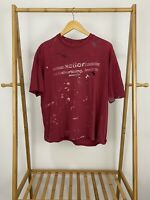 VTG Action Advertising Inc Single Stitch Thrashed Distressed Paint T-Shirt Sz L