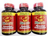 360 caps BioAstin - Hawaiian Astaxanthin (Non GMO) 4mg - ( 3 x 120 gel capsules)