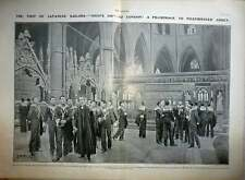 1906 Visit Of Japanese Soldiers Togo 600, Westminster Abbey, J Matania Artwork