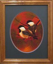 Ducks Unlimited Framed Limited Edition Chickadees Print/Songbirds/Wildlife Art