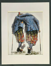 "Alexander Millar ~ Two Under Pair ~ Art Mounted Picture 14x11"" FREE P&P"