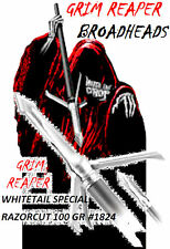 "GRIM REAPER ""Whitetail Special"" RAZORCUT - 3 Blade  100 gr  2"" Cut  3Pk  # 1824"