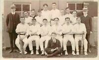 C-1910 Cricket Club Team group Photo UK Sports RPPC real photo postcard 10586