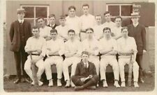 C-1910 Cricket Club Team group Photo UK Sports RPPC real photo postcard 10586