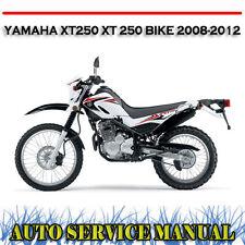Yamaha Xt250 XT 250 Bike 2008-2012 Workshop Service Repair & Owners Manual