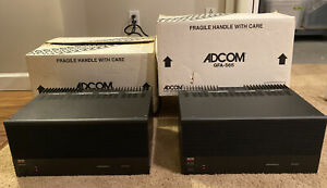 TWO ADCOM GFA565 MONO-BLOCK High Current Stereo Amplifiers With Box Mint