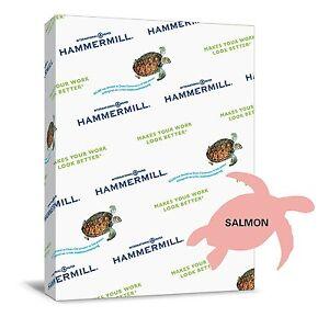 "Hammermill Paper, Colors Salmon, 24lb, 8.5"" x 11"", 500 Sheets/Ream, 8 Reams!"